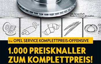 Opel Service Komplettpreis Offensive