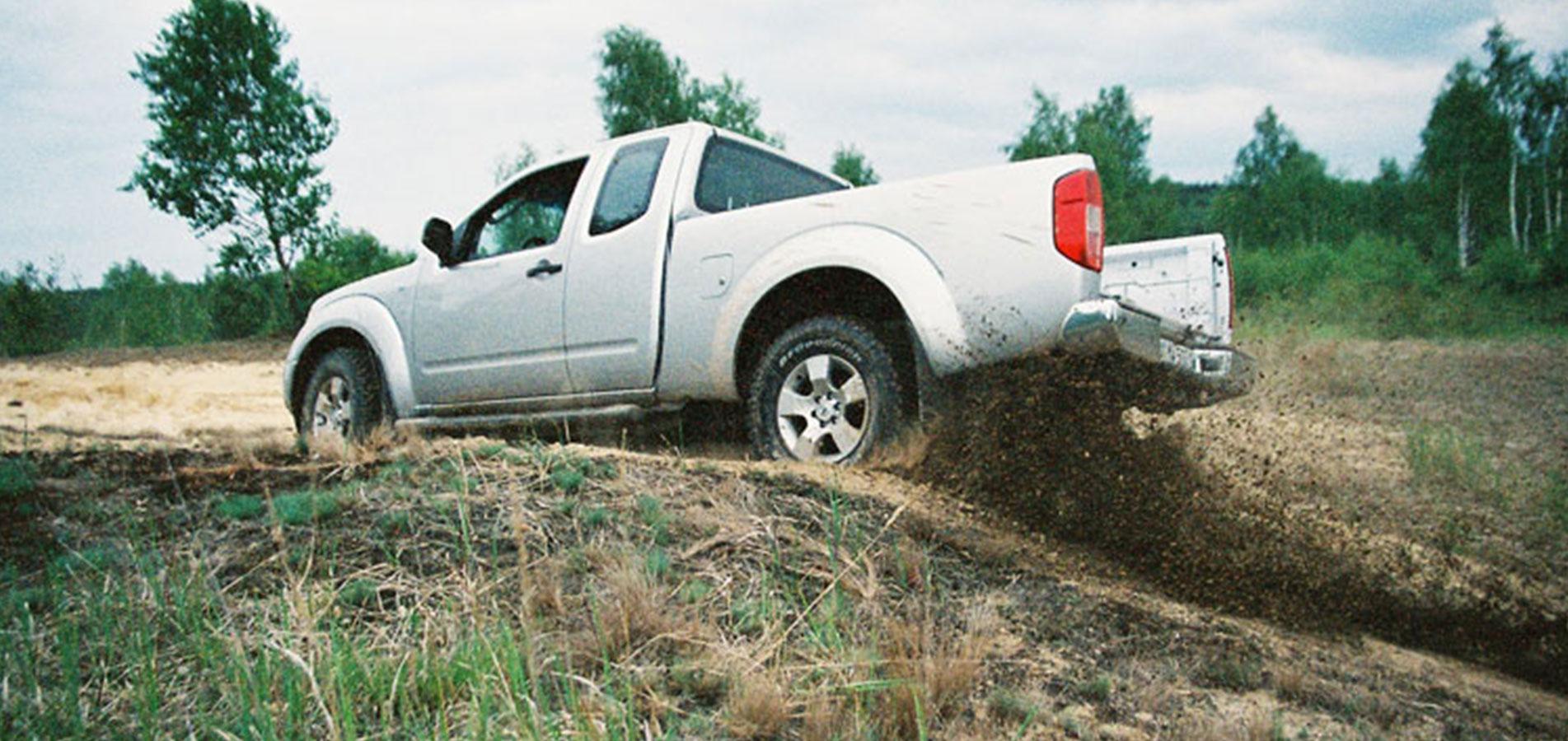 Pick-up im Gelände