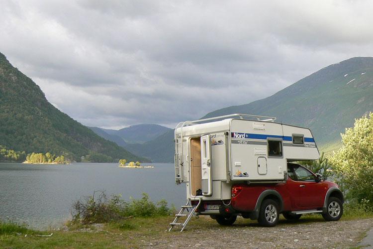 Wohnwagen in der Natur